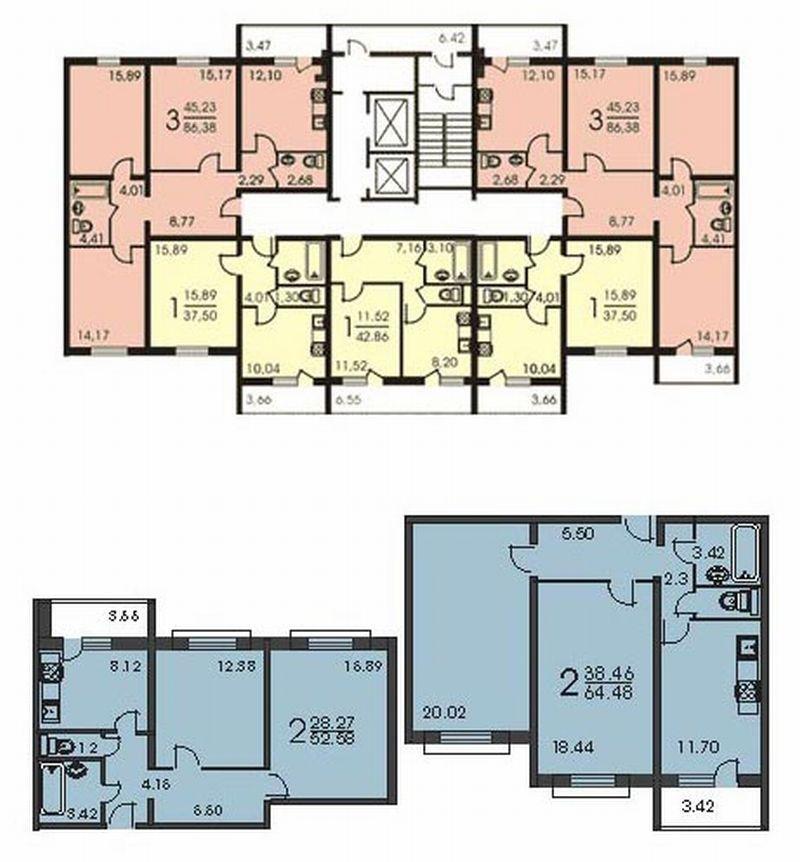 Планировка дома мэс-84.