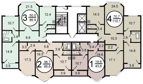 дома серии п 44 т поэтажный план